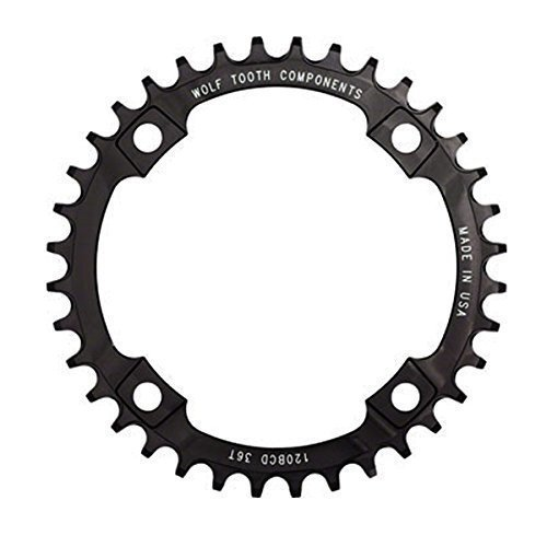 Wolf Tooth Components 36t 120bcd Drop Stop Chainring for SRAM 2x10 Cranks Black