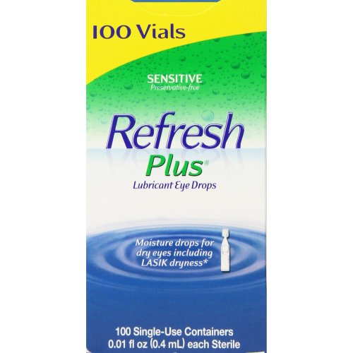Refresh Plus Eye Drops - 0.01 Fl. Oz., 100 Count Vials
