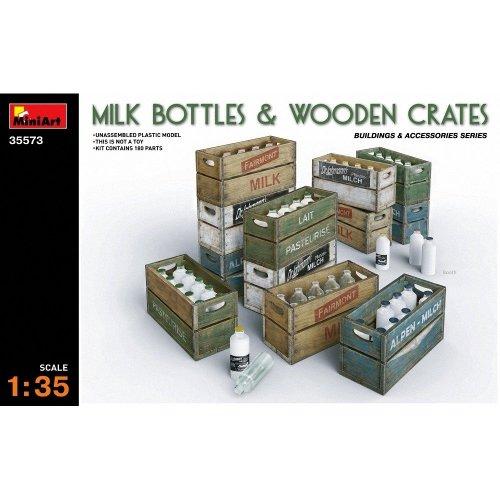 Min35573 - Miniart 1:35 - Milk Bottles & Wooden Crates