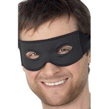 Black Tie Mask Eyemask Bandit Robber Superhero Lone Ranger Zorro