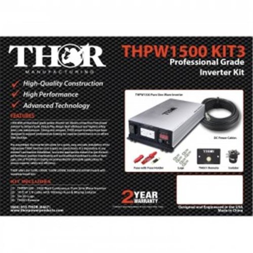 Thor THPW2000 KIT3 10 ft. of 1-0 Cable with 200 amp Fuse & 200 amp Isolator