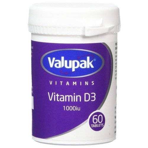 Valupak Vitamin D3 1000iu 60 Tablets