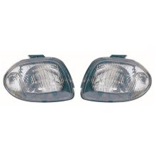 Renault Clio Mk2 5/1998-4/2001 Single Reflector Headlights Lamps Pair O/S & N/S