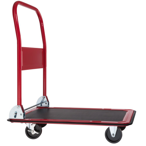 Folding Trolley with Brakes 150 kg red