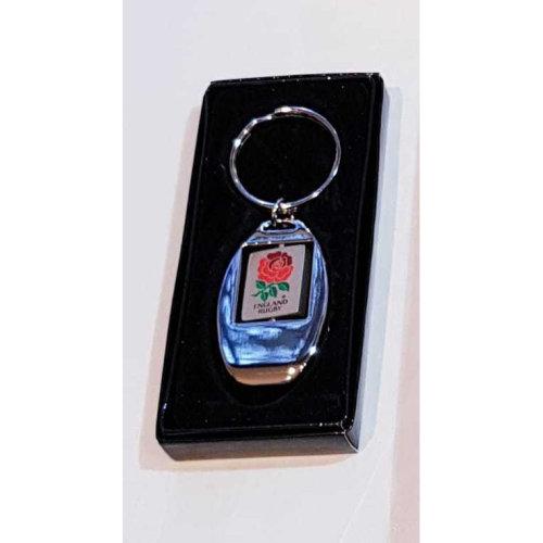 England Rugby RFU Crest Chrome Bottle Opener Keyring - In Gift Box