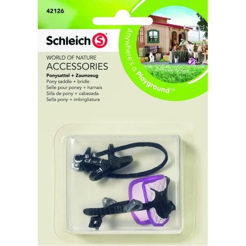 "Schleich 42126 ""Pony Saddle and Bridle"" Figurine Accessories"