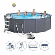 Intex 26382 Former 28382 Above Ground Pool Graphite 478x124cm