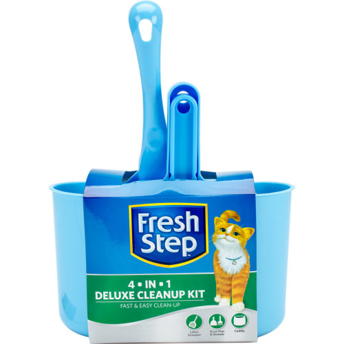 Fresh Step Deluxe Cleanup Kit-Scooper, Dust Pan, Broom & Caddy