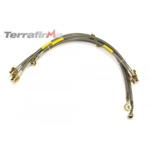 LAND ROVER DISCOVERY 2 STAINLESS STEEL BRAIDED BRAKE HOSE KIT TF610 DA2414S