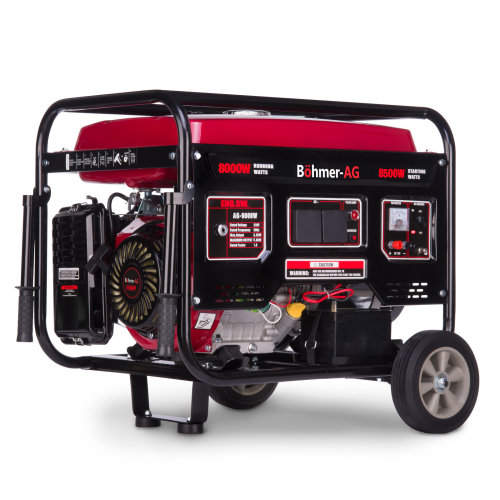 Böhmer-AG Electric Key Start Generator 9000W-e 17HP Petrol 8.5KW / 10.5KVA 4 Stroke