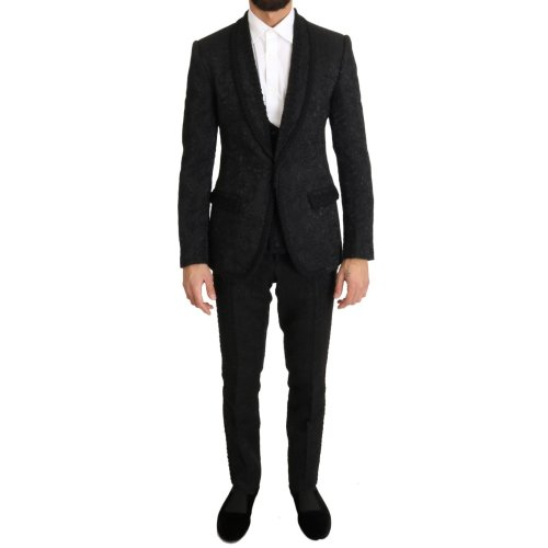 Dolce & Gabbana Black Torrero One Button Slim Fit Suit