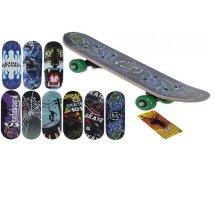 17 x 5 Retro Wooden School Skateboard 9asst Designs - Skateboard 5 Retro Wooden -  skateboard 5 retro wooden school design 17 x