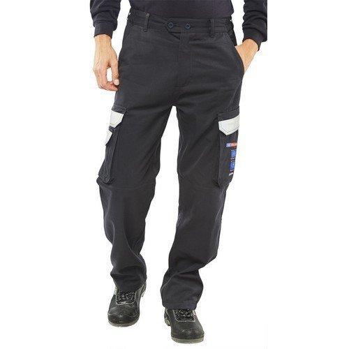 "Click CARC4N28S ARC Compliant Flame Retardant Trousers Navy Blue 28"" Short"