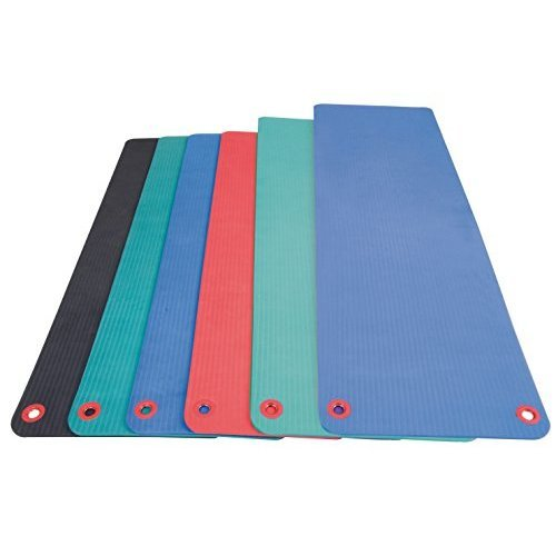 Aeromat Elite Workout Mat with Eyelets, Green, 1/2x20x48-Inch