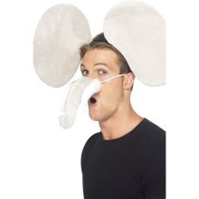 Smiffy's Elephant Kit With Ears And Trunk - Grey