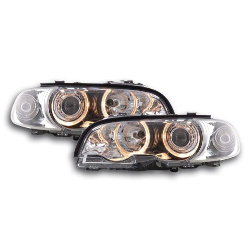 Angel Eye headlight  BMW serie 3 Coupe type E46 Year 98-01 chrome