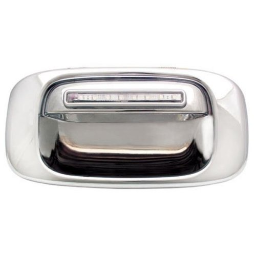 IPCW CLR99CT Cadillac Escalade 1999 - 2006 LED Tailgate Handle, Chrome Red LED Clear Lens