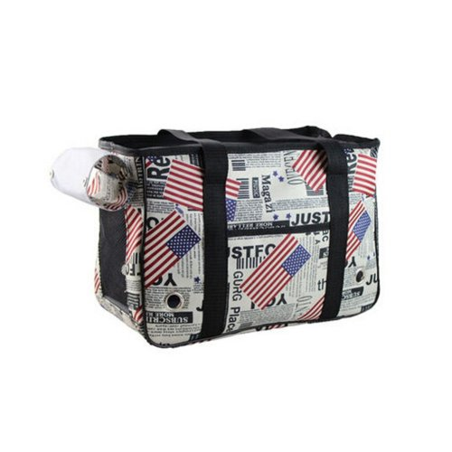 [USA Flag] Fashion Pet Carriers Tote Bag for Dogs and Cats