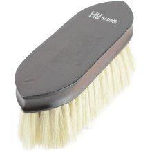 HySHINE Deluxe Goat Hair Wooden Dandy Brush: Dark Brown