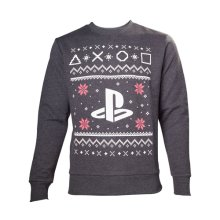 Sony Playstation Men's Logo Christmas Jumper, Extra Large, Grey (Model No. SW501235SNY-XL)