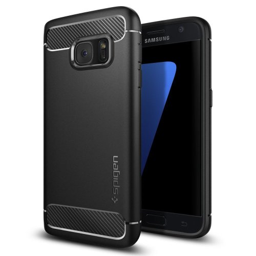 Galaxy S7 Case, Spigen® [Rugged Armor] Galaxy S7 Case with Resilient Shock Absorption and Carbon Fiber Design for Samsung Galaxy S7 2016 - Black -...