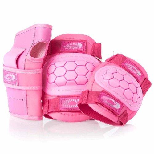 Osprey Unisex Youth Skate BMX 6pc Knee, Elbow & Wrist Protective Set, Pink, Small