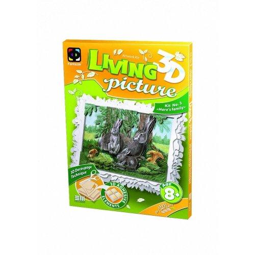Elf956023 - Fantazer 3d Living Picture - Hare's Family