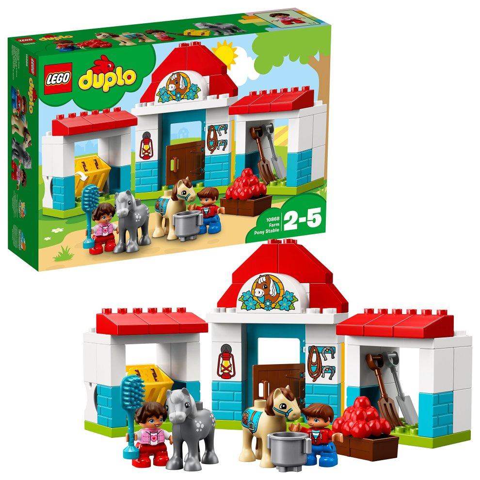 Lego Uk 10868 Duplo Farm Pony Stable Toddler Toy On Onbuy