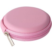 Groov-e Zip Up EVA Carry Case for Earphones, Memory Cards and Cables - Pink (GVEC1PK)