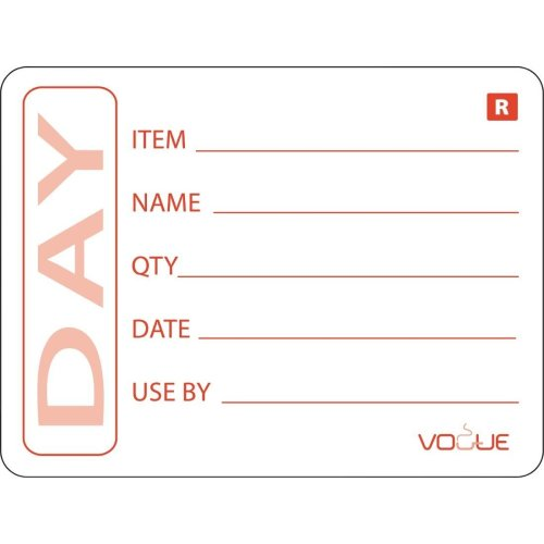 """Vogue E148 2"""" Removable Prepped Food Labels (Pack of 500)"""