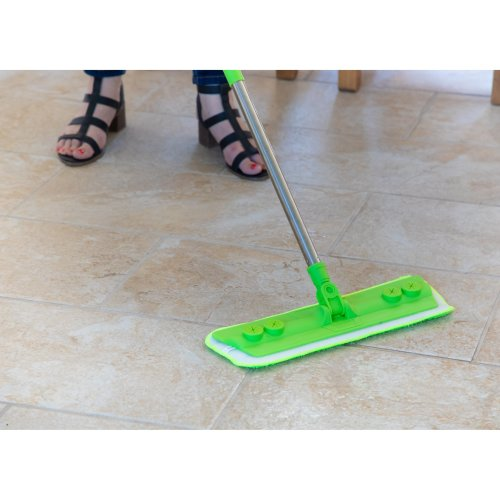 Laminate Floor Mop with Washable Microfibre Removable Cleaning Pad for Cleaner Wood Tile Hardwood and Laminate Flooring - Quickly & Simply Remove Dust and Dirt from Flooring with the Microfiber Cloth Pad- By The Dustpan and Brush Store …
