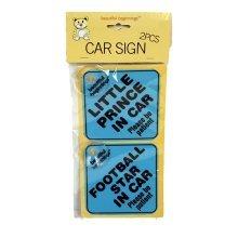 Assorted Boys Car Signs 2 pk
