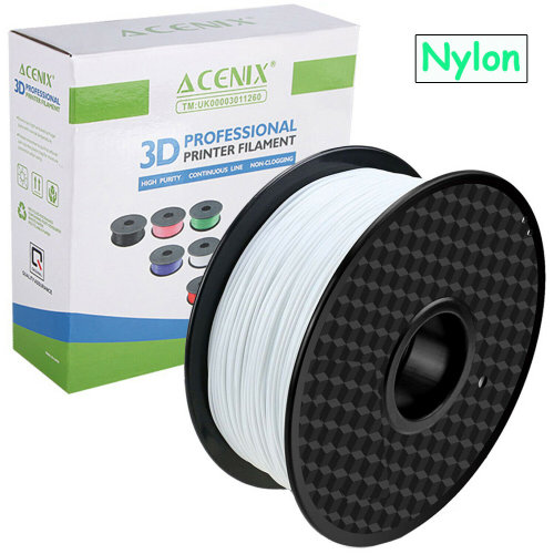 ACENIX® High Quality White Nylon Filament 1.75mm/1Kg Spool for 3D Printers