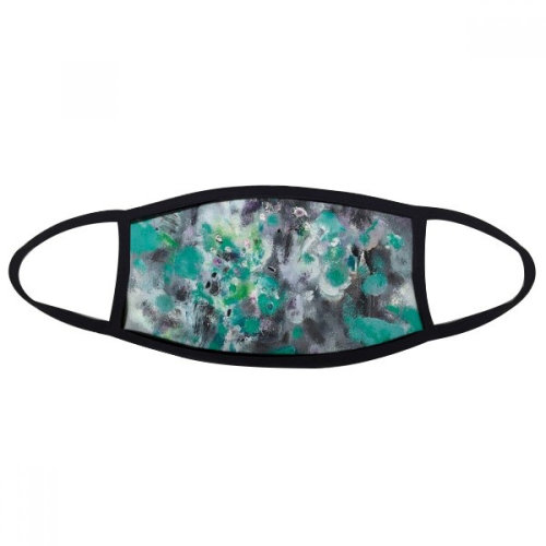 Green Oil Painting Art Still Life Flower Mouth Face Anti-dust Mask Anti Cold Warm Washable Cotton Gift